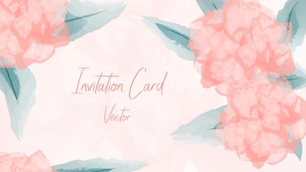 Invita card. acquerello floreale di nozze.