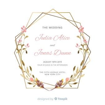 Invito a nozze ad acquerello