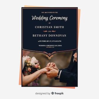 Invito a nozze bellissimo con foto