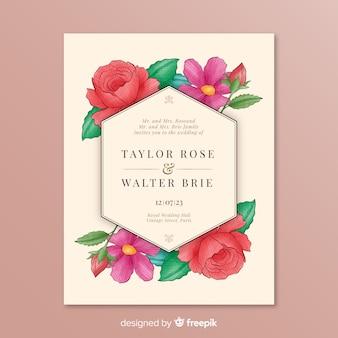 Invito a nozze con bellissimi fiori