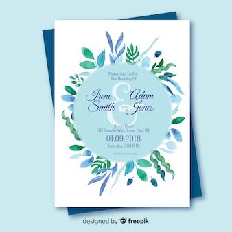 Invito a nozze con elementi floreali