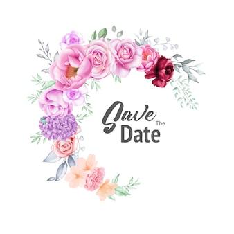 Invito a nozze dell'acquerello