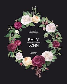 Invito a nozze di design floreale