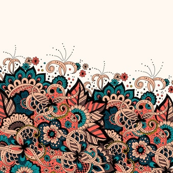 Invito a nozze e scheda annuncio con ornamento in stile arabo. motivo arabesco.