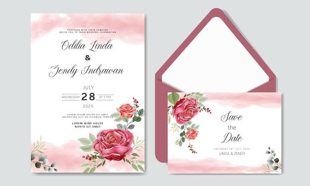 Invito a nozze fiore romantico