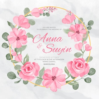 Invito a nozze floreale bellissimo