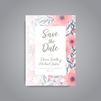 Invito a nozze floreale invito elegante carta