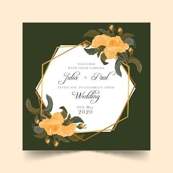 Invito a nozze floreale