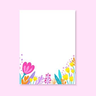 Invito a nozze, o biglietto d'auguri, invito floreale, carta moderna con fiori disegnati a mano.