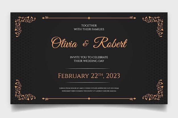 Invito a nozze retrò