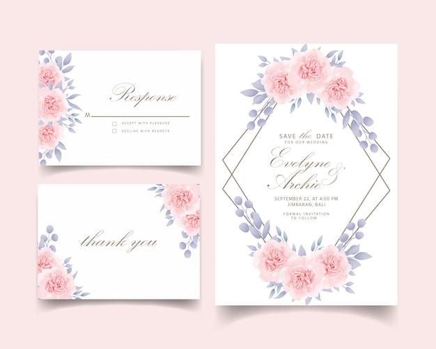 Invito a nozze rose floreali