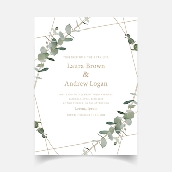 Invito a nozze verde