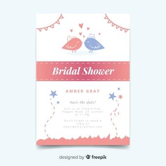 Invito alla doccia nuziale