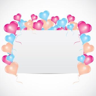 Invito di buon compleanno con palloncini d'amore