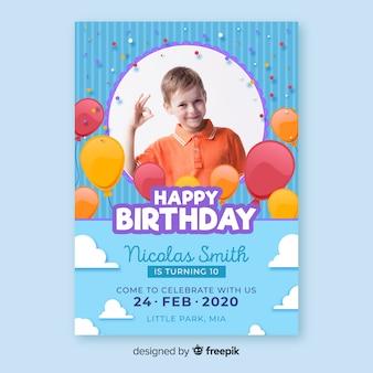 Invito di compleanno modello bambini