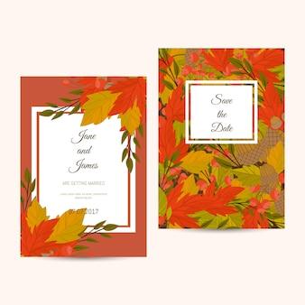 Invito di layout di foglie d'autunno
