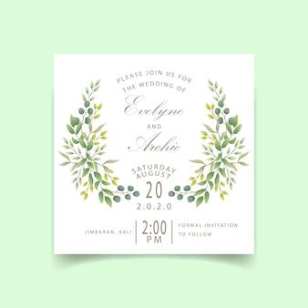Invito di nozze verde