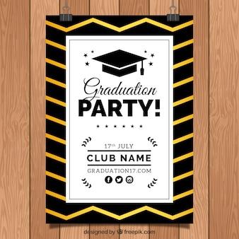 Invito elegante di partito di laurea