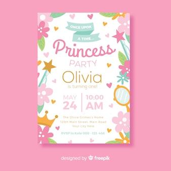Invito festa carina principessa