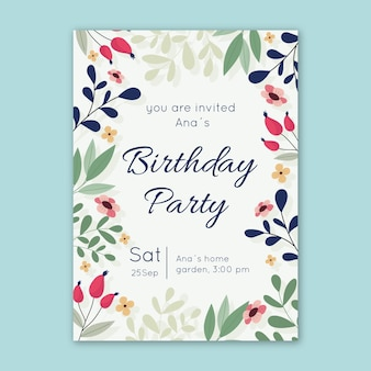 Invito floreale compleanno