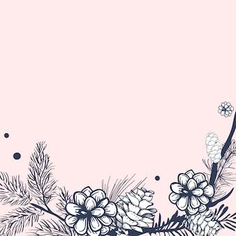 Invito floreale vuoto