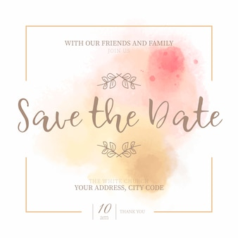 Invito golden and pink save the date