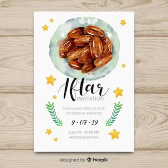 Invito iftar disegnato a mano