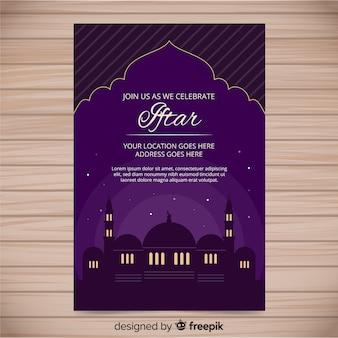 Invito iftar piatto