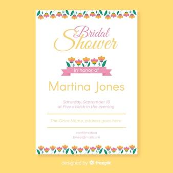Invito nuziale da sposa floreale