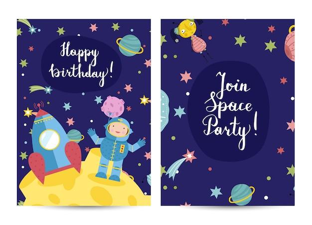 Invito sulla festa di compleanno in costume dei bambini