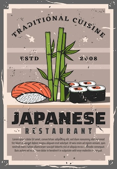 Involtini di sushi e salmone pesce modello nigiri