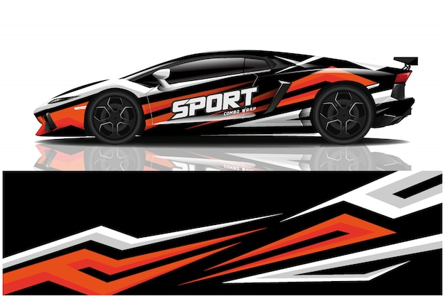 Involucro adesivo per auto sportive, livrea per auto
