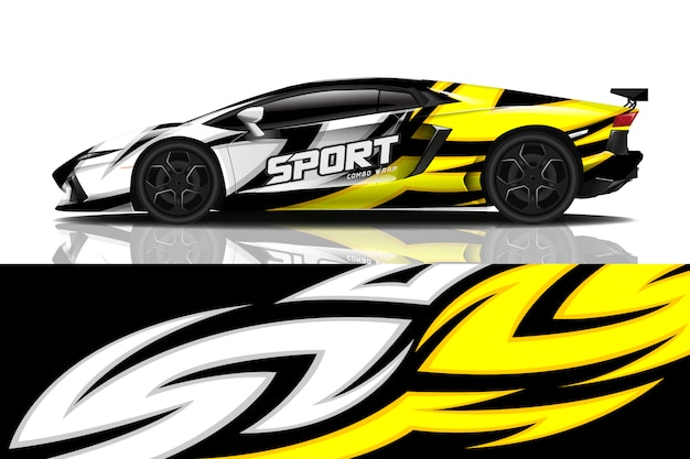 Involucro adesivo per auto sportive