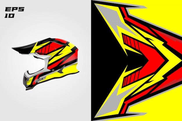 Involucro della decalcomania del casco disegni disegni livrea vettoriali