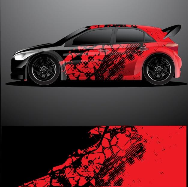 Involucro grafico di auto rally decal, astratto