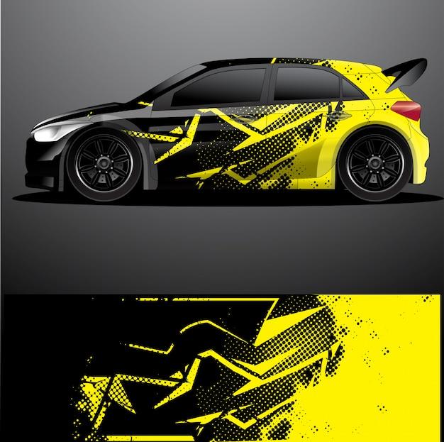 Involucro grafico per auto da rally