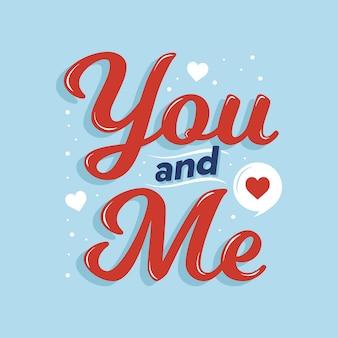 Io e te amiamo la tipografia