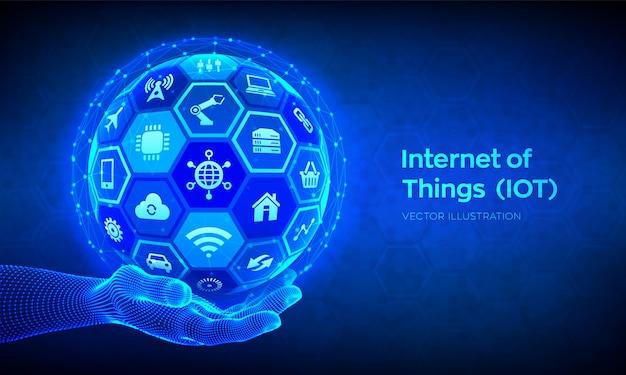Iot. internet delle cose sullo sfondo