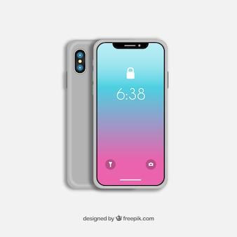 Iphone x con sfondo sfumato