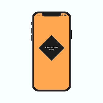 Iphone x modello realistico mockup smartphone