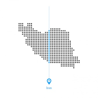 Iran doted map design vector
