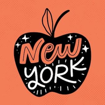 Iscrizione colorata di new york city