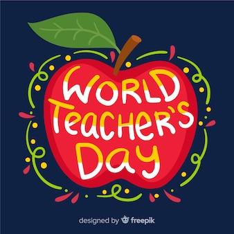 Iscrizione del giorno degli insegnanti del mondo