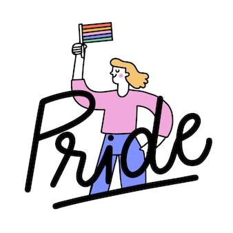Iscrizione del giorno dell'orgoglio