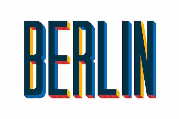 Iscrizione della città con il concetto di berlino