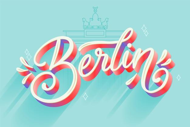 Iscrizione della città di berlino