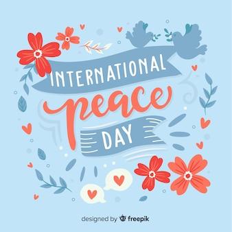 Iscrizione della giornata mondiale della pace
