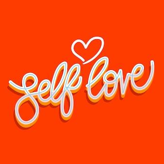 Iscrizione di amore di sé colorato