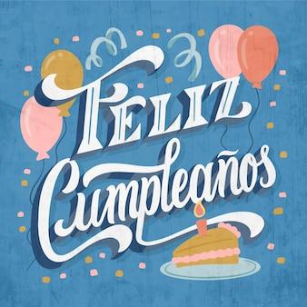 Iscrizione di buon compleanno in spagnolo