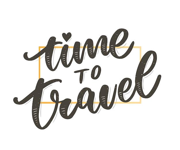 Iscrizione di citazioni di ispirazione di stile di vita di viaggio